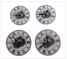 Embellishments / Verzierungen ScrapBerry's Set Of Clock, metal