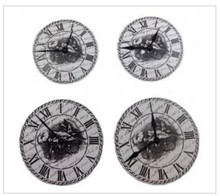 Embellishments / Verzierungen Set Di Clock ScrapBerry, metallo