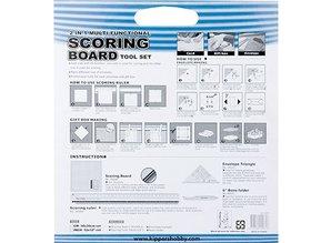 BASTELZUBEHÖR / CRAFT ACCESSORIES Scoring Board Tool Set mit Falzbein