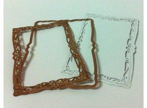 Spellbinders und Rayher Spellbinder, presning og prægning stencil, Temmelig dekorativ ramme