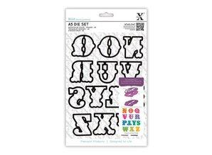 Docrafts / Papermania / Urban X-Cut, Buchstaben von N bis Z