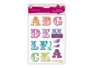X-Cut / Docrafts Stempel med store bogstaver fra A til M