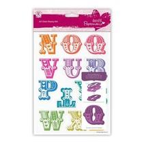 Stempel mit große Buchstaben von N bis Z
