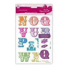 X-Cut / Docrafts Timbro con grandi lettere N attraverso Z