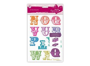X-Cut / Docrafts Stamp with large letters N through Z