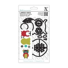 X-Cut / Docrafts X-cut, hulning skabelon, A5 Set (9pcs) - Owl