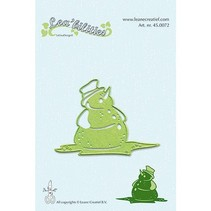 Leabilities, stamping - and embossing template Snowman