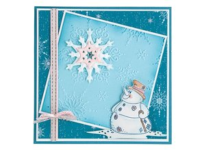 Leane Creatief - Lea'bilities Leabilities, stamping - and embossing template Snowman