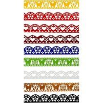 9 verschiedene selbstklebende Papierborte mit Spitzeneffekt!