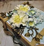 Objekten zum Dekorieren / objects for decorating 2 hübsche Nostalgische Mini Köfferchen, aus starkem Karton.