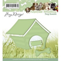 Stamping and embossing stencil, Animal Medley, dog house