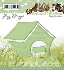 Amy Design Stamping and embossing stencil, Animal Medley, dog house