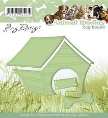 Amy Design Stempling og prægning stencil, Animal Medley, hund hus