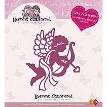 Stempling og prægning stencil, Yvonne Creations, Kærlighed Collection, Amor