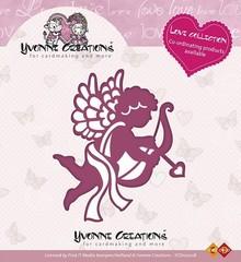 Yvonne Creations Stempling og prægning stencil, Yvonne Creations, Kærlighed Collection, Amor