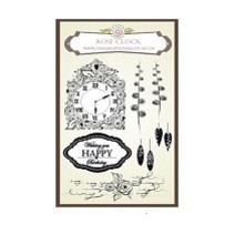 Anna Marie Designs, Stempel, Rose Clock Set, passend zu den Stanzschablone Uhr