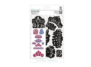 X-Cut / Docrafts XCut, A5 punching template set (8 HAMPERS) - ornate greetings