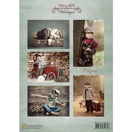 Nellie snellen Decoupage sheets A4 - Vintage Boys