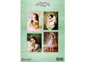 Nellie snellen Decoupage sheets A4 - Vintage Girls