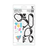 X-Cut / Docrafts XCut, A5 stamped stencil Large (10p) - Balloons