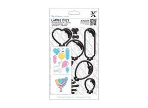 X-Cut / Docrafts XCut, A5 stemplet stencil Large (10p) - Balloons