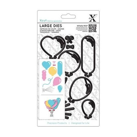 X-Cut / Docrafts XCut, A5 Stanzschablonen Groß (10Stk) - Ballons