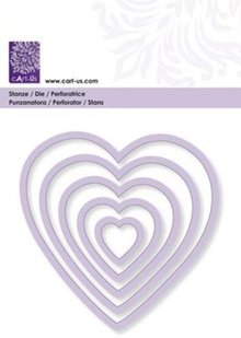 Cart-Us Cutting template, heart, size 5