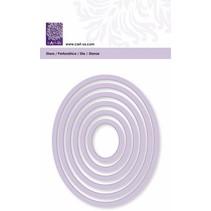 Estera de corte, marco oval, tamaño 6