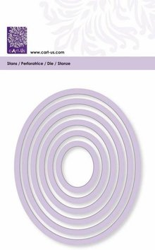 Cart-Us Cutting mat, oval frame, size 6