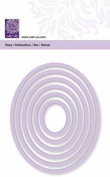 Cart-Us Tappetino di taglio, cornice ovale, formato 6