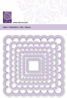 Cart-Us Cutting template, rectangle wave size 6