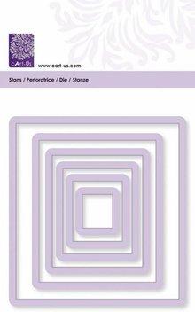 Cart-Us Skæring skabelon, rektangel, størrelse 6