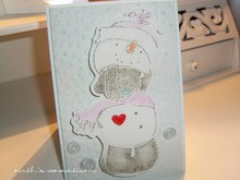 Chiaro francobolli + EMBOSSING CARTELLA! Me to You, Winter Wonderland