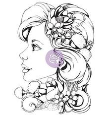 Prima Marketing und Petaloo Rubber stamp, Prima Marketing, Girl Sophie