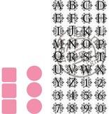 Marianne Design 2 skære- og prægning stencils Marianne Design + stempel 32 bogstaver