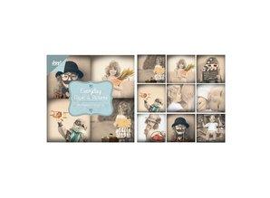 Joy!Crafts und JM Creation Blocco della carta, 10x10cm - Everyday - Paper & Foto