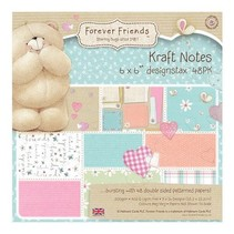 Forever Friends, blok papir, 15,5 x 15,5 cm, Noter kraft