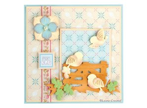 Leane Creatief - Lea'bilities Leabilities, stamping - and embossing template Llittle birds