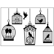 Prägefolder, 10,8x14,6cm birdcages