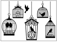 embossing Präge Folder Embossing folders, 10,8x14,6cm birdcages