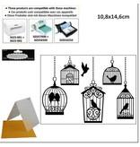 embossing Präge Folder Carpetas de repujado, jaulas de pájaros 10,8x14,6cm