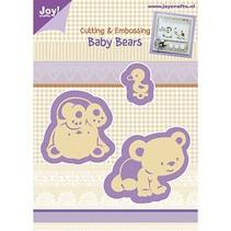 Punzonado y Prägeschabloen, oso del bebé