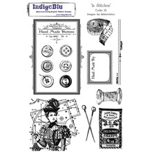 IndigoBlu Stamp A5: In Stitches, 200x140mm