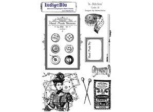 IndigoBlu Stamp A5: In Stitches, 200x140mm