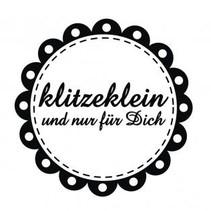 """Holze mini stempel med tyske tekst """"lille og kun for dig"""", 3 cm diameter"""