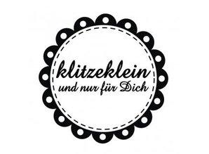 "Stempel / Stamp: Holz / Wood Holze mini stempel med tyske tekst ""lille og kun for dig"", 3 cm diameter"