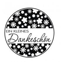 """holze Mini-Stempel mit deutsche Text """"ein kleines Dankeschön"""" , 3cm ø"""