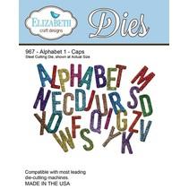 Stempelen en embossing stencil, Elizabeth Craft Design Alphabet 1-967 Hoed