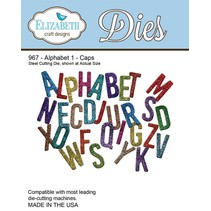 Y el estampado de la plantilla, Elizabeth Craft Diseño Alfabeto 1-967 Sombrero