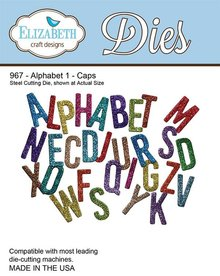 Elisabeth Craft Dies Stamping and embossing stencil, Elizabeth Craft Design Alphabet 1 - 967 Hat